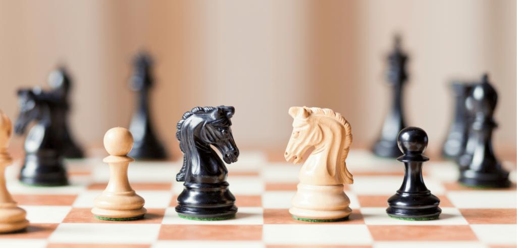 Le Cavalier au jeu d'échec